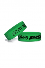Asking Alexandria, On Knees Wristband [Green]