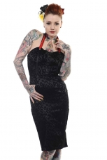 Banned, Pencil Dress Black With Red