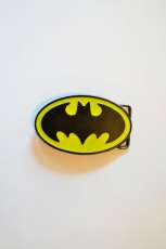 Batman, Logo Buckle Yellow/Black [Flat] inkl. Gürtel