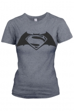 Batman VS Superman, Superbatman Girlie Tee  [Black]