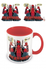 Deadpool, 2 Thumbs Coloured Inner Tasse Rot