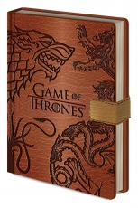 Game Of Thrones, Sigils A5 Clasp Notizbuch