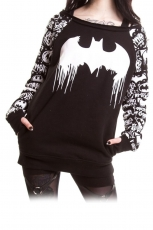 Graffiti, Batman Sweater Ladies Black