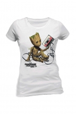 Guardians Of The Galaxy, Groot & Tape Girlie Tee