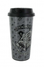 Harry Potter, Hogwarts Coffee To Go Becher Grau