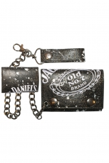 Jack Daniel´s, Black Painted Chain Wallet
