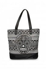Loungefly, Black/White Aztecl Tote Bag