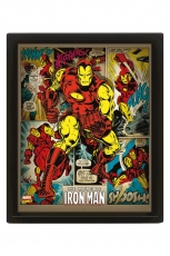 Marvel Retro, Iron Man 3D Bild