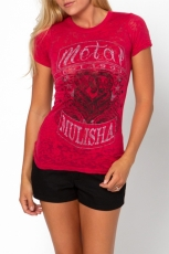 Metal Mulisha, Ride On Vneck Red Girlie