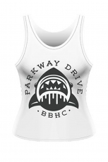 Parkway Drive, Shark Girlie Top [White]