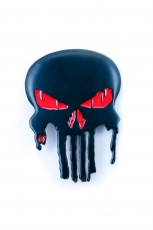 Punisher, Skull Buckle Big With [Light Red] Eyes inkl....