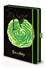 Rick and Morty, Portals A5 Premium Notizbuch