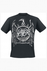 Slayer, Hi Contrast Eagle Puff Print Tee