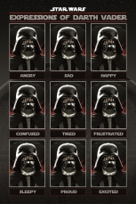 Star Wars, Expressions Of Darth Vader Maxi Poster