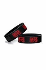 Suicide Silence, Red Logo Wristband [Black]