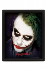 The Dark Knight, Why So Serious 10x8 3D Bild