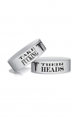 Trivium, Head Hunter Wristband [White]