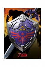Zelda, Hylian Shield Metallic Poster