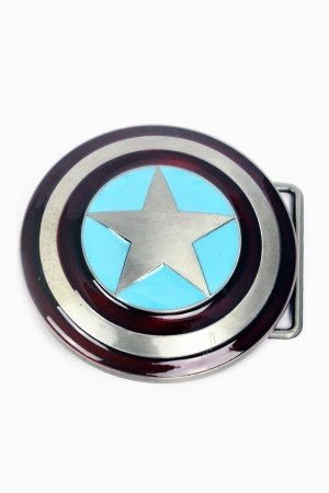 Captain America, Sign Buckle [3D] inkl. Gürtel