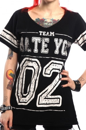 Cupcake Cult, Hate Varsity Ladies Shirt