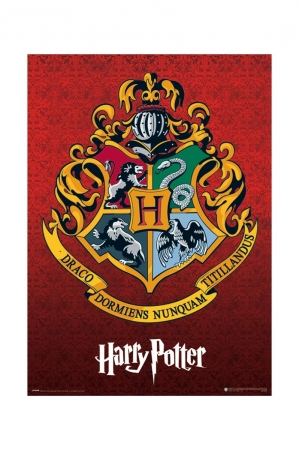 Harry Potter, Hogwarts Crest Metallic Poster
