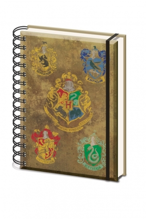 Harry Potter, Hogwarts Crests A5 Wiro Notizbuch