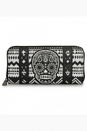 Loungefly, Black/White Aztec Wallet
