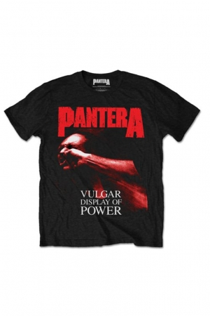 Pantera, Red Vulgar T-Shirt [Black]