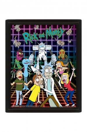 Rick And Morty, Characters Grid 3D Bild