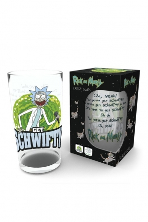 Rick And Morty, Get Schwifty Glas Groß 500ml GLB0162