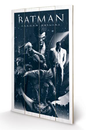 Batman, Arkham Origins Montage Holzbild 45 x 76 cm