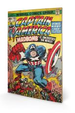 Captain America, Madbomb Holzbild 40 x 59 cm