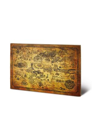 The Legend Of Zelda, Hyrule Map Holzbild 40 x 59 cm