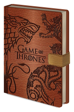 Game Of Thrones, Sigils A5 Clasp Notizbuch