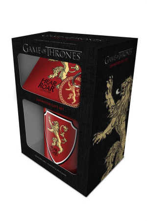 Game Of Thrones, Lannister Mug, Coaster & Keychain Set