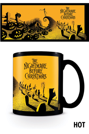 Nightmare Before Christmas, Graveyard Scene Heat Change Tasse