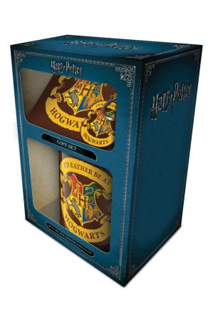 Harry Potter, Rather Be At Hogwarts Mug, Coaster & Keychain Set