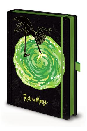 Rick and Morty, Portals A5 Premium Notizbuch