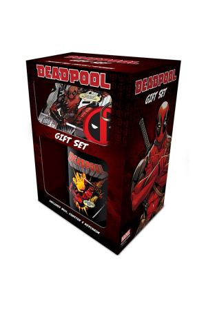Deadpool, Mug, Coaster & Keychain Set