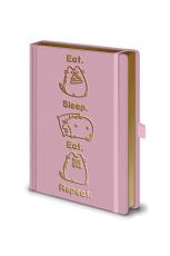 Pusheen, Eat. Sleep. Eat. Repeat. A5 Premium Notizbuch