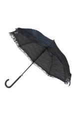 Spitzenregenschirm, Schwarz 100 cm Spannweite