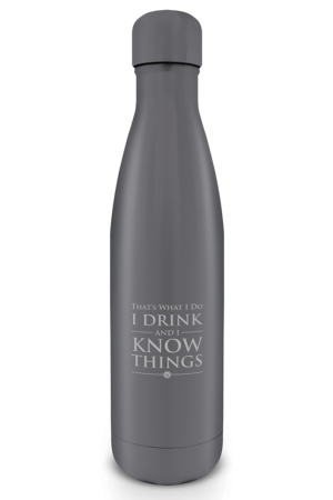 Game Of Thrones, I Drink And I Know Things Metal Trinkflasche