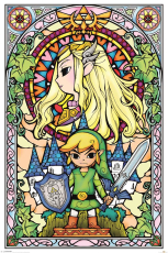Nintendo, The Legend Of Zelda (Stained Glass) Maxi Poster