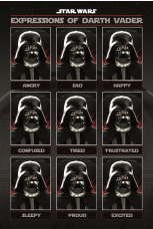 Star Wars, Expressions Of Darth Vader Maxi Poster