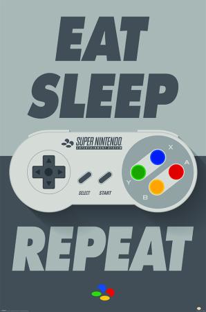 Nintendo, Eat Sleep SNES Repeat Maxi Poster