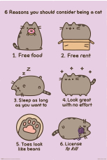 Pusheen, Reasons To Be A Cat Maxi Poster