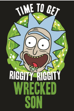 Rick And Morty, Wrecked Son Maxi Poster
