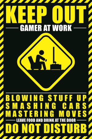 Gamer At Work Maxi Poster