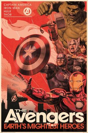 Marvel, Avengers (Golden Age Hero Propaganda) Maxi Poster
