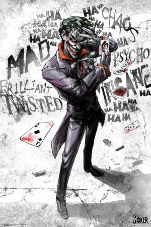 DC Comics, Batman (Joker Asylum Portrait) Maxi Poster